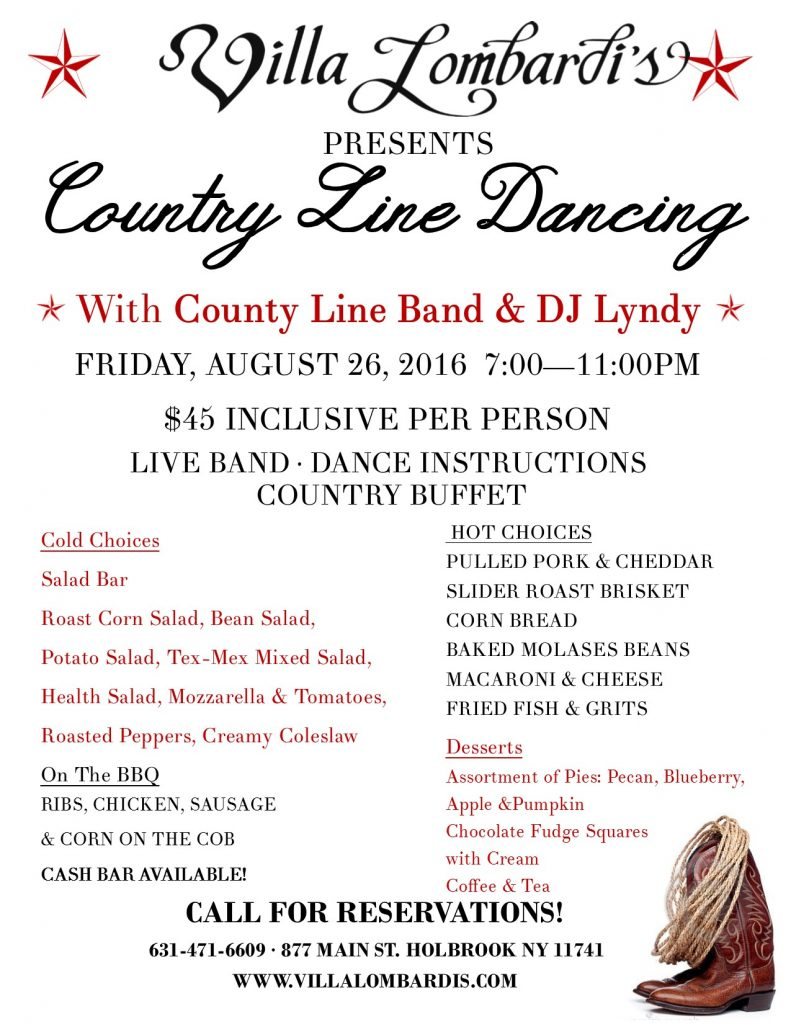 Country Line Dancing August 2016