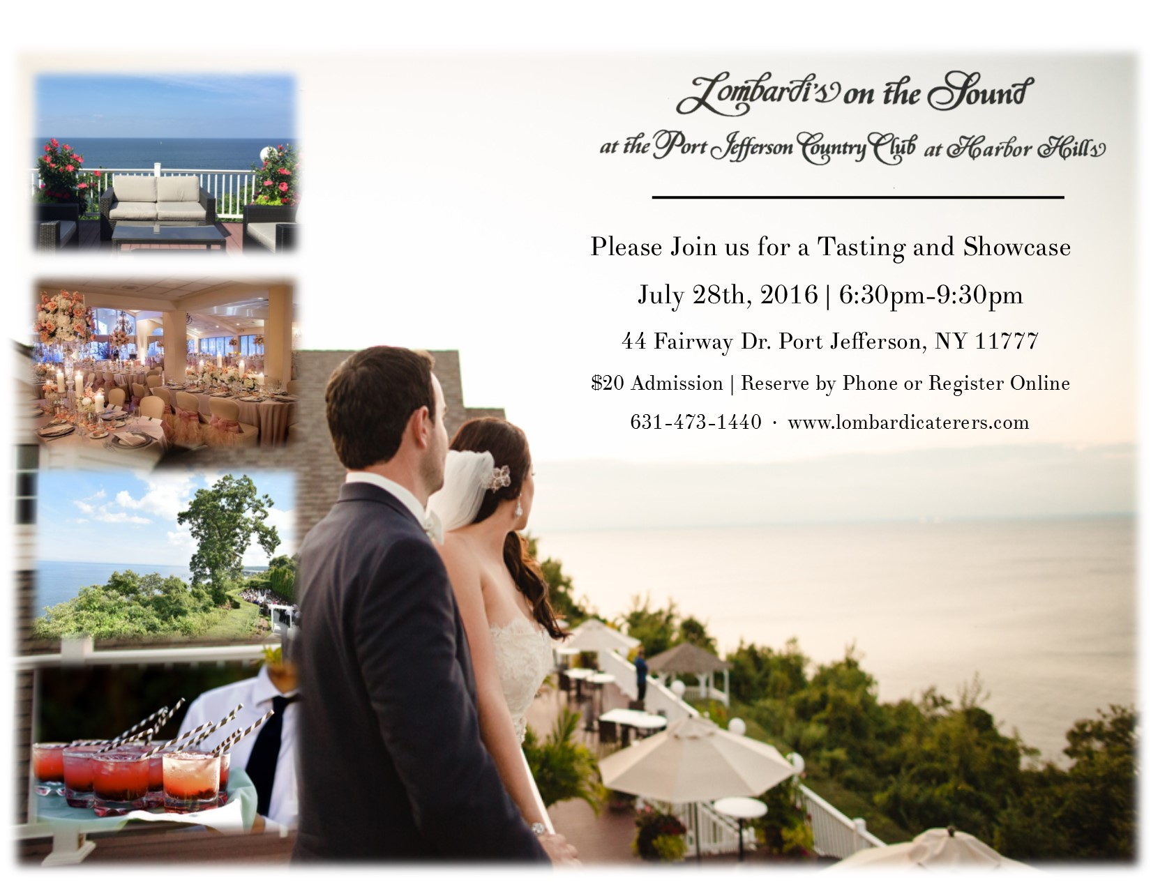 Attend our Summer Bridal Showcase at Lombardi's on the Sound